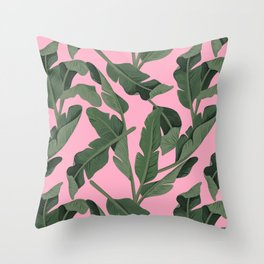 Tropical '17 - Forest [Banana Leaves] Throw Pillow