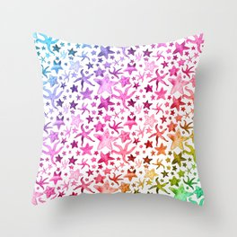 Rainbow Starfish Pattern Throw Pillow
