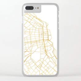 BUENOS AIRES ARGENTINA CITY STREET MAP ART Clear iPhone Case