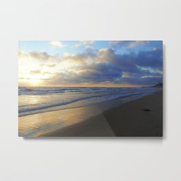 California Beach at Dusk by Reay of Light Metal Print
