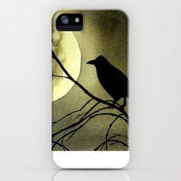 Crow Moon iPhone Case