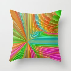 Abstract 359 a dynamic fractal Throw Pillow
