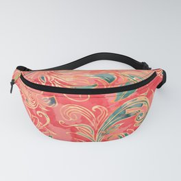 Watercolor exotic flowers Fanny Pack