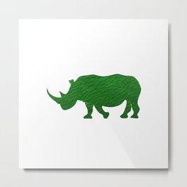 Eco Rhino Metal Print