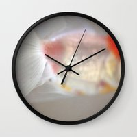 lightning Wall Clocks featuring Lightning by Alicia Bock