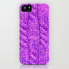 Knitting_030_by_JAMFoto iPhone Case