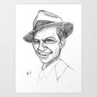 frank sinatra Art Prints featuring Sinatra by Mark T. Zeilman