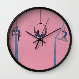 aerial dancing Wall Clock