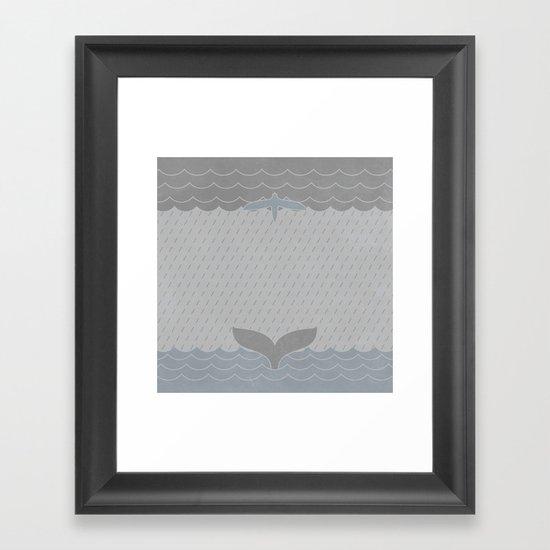 Sea Storm Symmetry Framed Art Print
