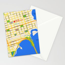 Map of Pensacola, FL - East Hill Christian School Stationery Cards
