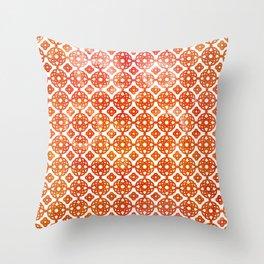 Bohemian Sunny Summer Pattern Throw Pillow