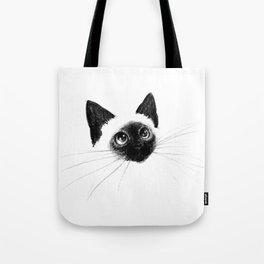 Curious Siamese Kitten Tote Bag