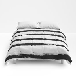 BW Stripes Comforters