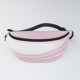 Pastel Pink Abstract Wavy Lines Ombre Gradient Fanny Pack