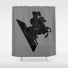 LAST CARD IN THE DECK BLACK Shower Curtain