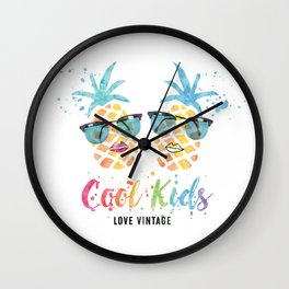 Cool Kids Love Vintage (Pineapple) Wall Clock