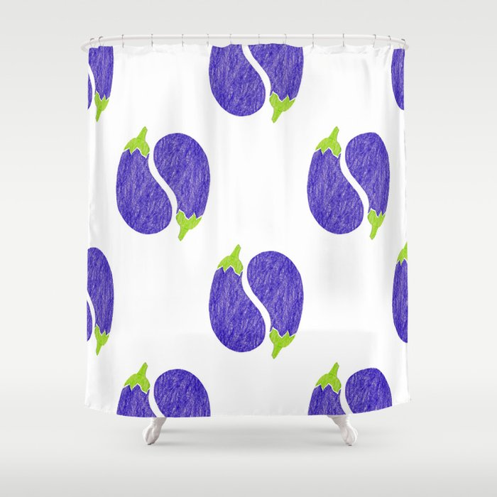 Pattern Eggplant Shower Curtain