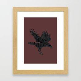London, as the Raven Flies Framed Art Print