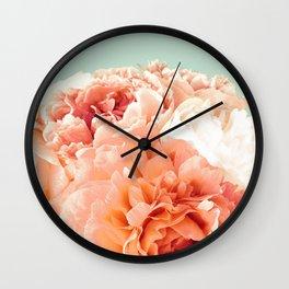 Pink Peony Bunch V2 Wall Clock