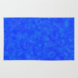 Cobalt Blue Cloud Texture Rug