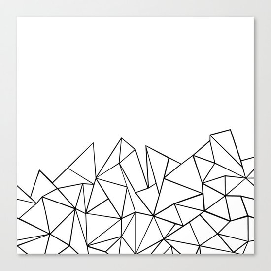Ab Peaks White Canvas Print