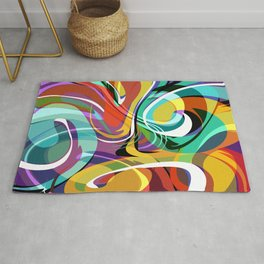 Colorful Abstract Whirly Swirls - V2 Rug
