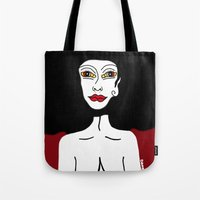 lsd Tote Bags featuring LSD by Maria Molinari