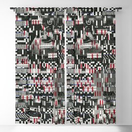 Comfortable Ambiguity (P/D3 Glitch Collage Studies) Blackout Curtain