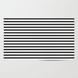 Stripped horizontal black and white pattern Rug