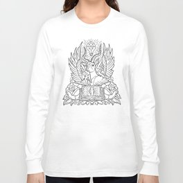 Information Antelope - Black Lines Long Sleeve T-shirt