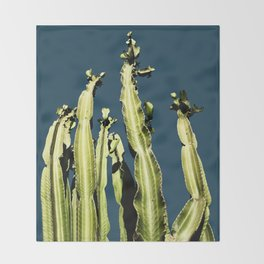 Cactus - blue Throw Blanket