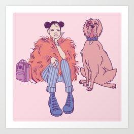 Pink boredom Art Print