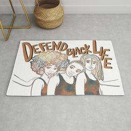 Defend Black Life Rug