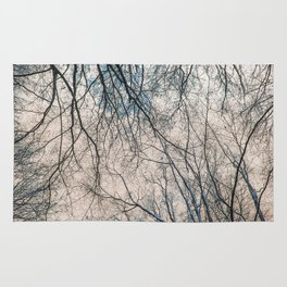 Branches abstract landscape Rug