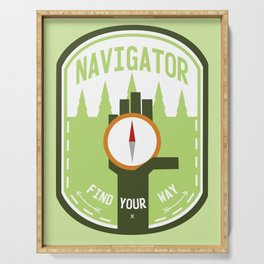 Navigator- Find Your Way - Color Serving Tray