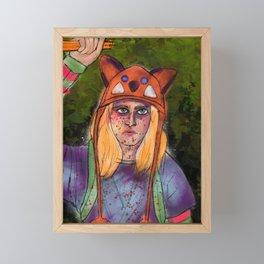 Becky Kicks Butt Framed Mini Art Print