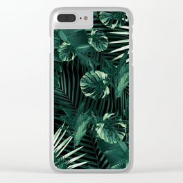 Tropical Jungle Leaves Night Siesta #1 #tropical #decor #art #society6 Clear iPhone Case