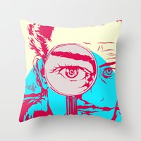 dali Throw Pillows featuring Dali   by Vee Ladwa