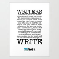 WRITERS WRITE! Art Print