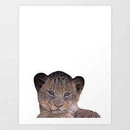 baby cheetah Art Print