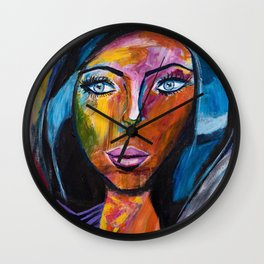 Powerful Woman Wall Clock