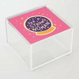 I see a strong woman Acrylic Box