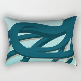 Octopus blue Rectangular Pillow
