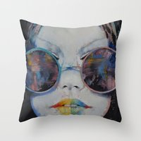 asia Throw Pillows featuring Asia by Michael Creese