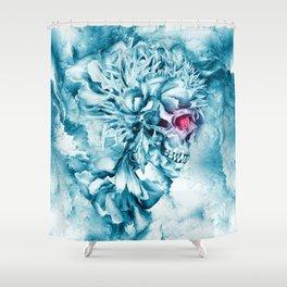 Frozen Skull Shower Curtain