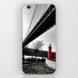 The Little Red Lighthouse - George Washington Bridge NYC iPhone Skin