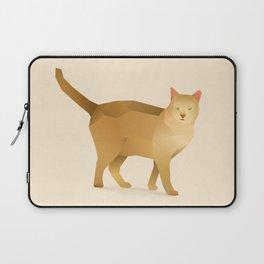 Geometric House Cat - Modern Animal Art Laptop Sleeve
