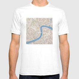 New Orleans Cobblestone Watercolor Map T-shirt