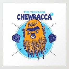 Hipster Chewie Art Print