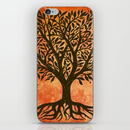 Tree Of Life Warm Tones iPhone Skin